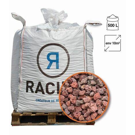 Paillage minéral en pouzzolane rouge 12/20 Big bag 500 litres pour 10m2