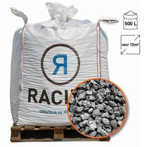 Paillage minéral pouzzolane grise 7/15 Big bag 500 litres pour 10m2