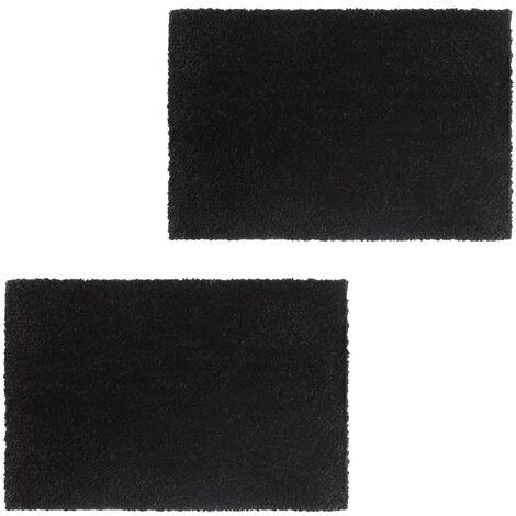 Paillasson 2 pcs Fibre de coco 24 mm 50 x 80 cm Noir