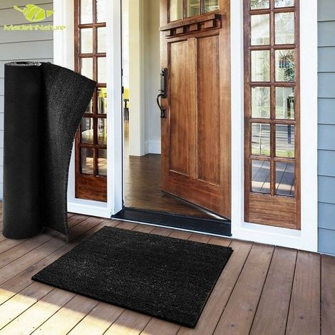 Paillasson en fibre de coco tapis d'entrée anthracite paillasson au mètre largeur 120cm hauteur 17mm
