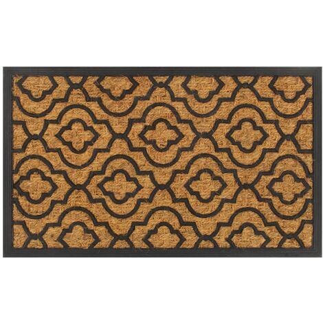 Large 75 x 25 cm Naturelle coco et caoutchouc intérieur//extérieur antidérapant Porte Tapis de sol
