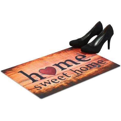 Paillasson Home Sweet home tapis d'entrée bienvenue résistant antidérapant 60x40 cm, coloré