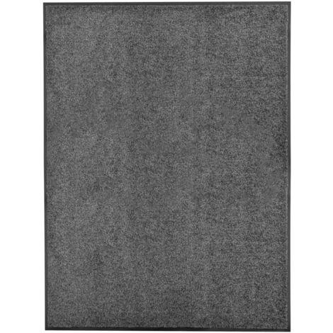 Paillasson lavable Anthracite 90x120 cm