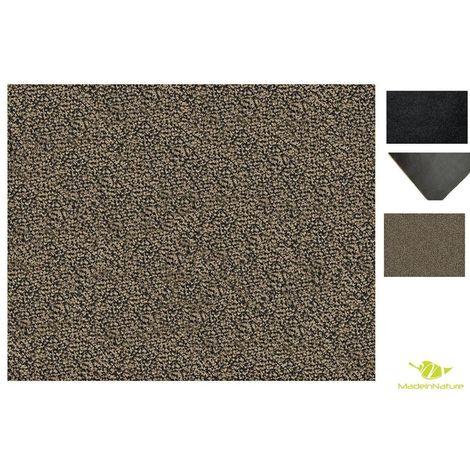 Paillasson lavable MadeInNature / Tapis d'entrée / Très absorbant + lavable en machine / Tailles au choix / Granit gris beige