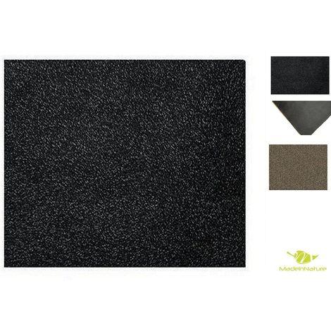 Paillasson lavable MadeInNature / Tapis d'entrée / Très absorbant + lavable en machine / Tailles au choix / Graphite Anthracite