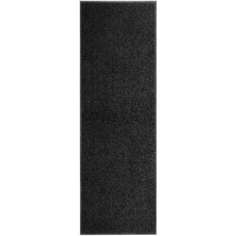Paillasson lavable Noir 60x180 cm