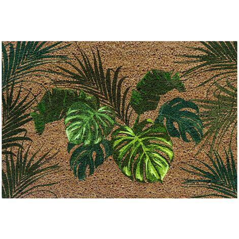 paillasson rectangle 40 x 60 cm coco imprime forest door