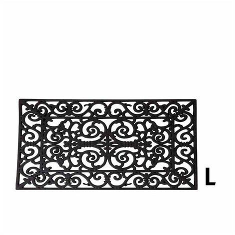 Paillasson rectangle - 70 x 45 x 1,3 cm - Caoutchouc - Livraison gratuite