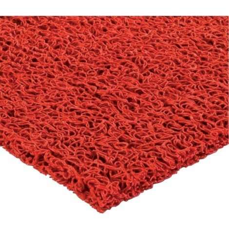 Paillasson spaghetti 14mm, 1,2x12m, rouge