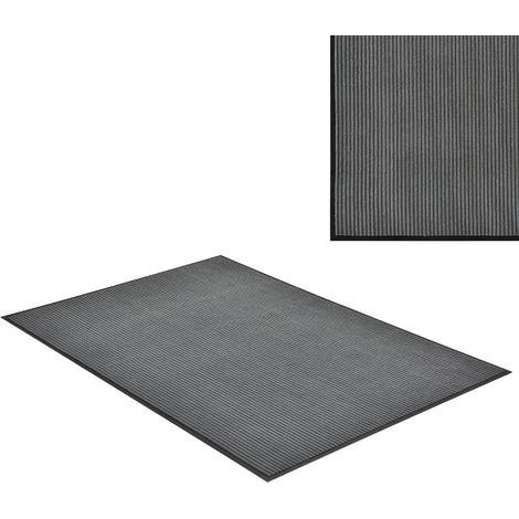 Paillasson tapis d'accueil PVC / Polyester gris foncé 180 x 120 cm
