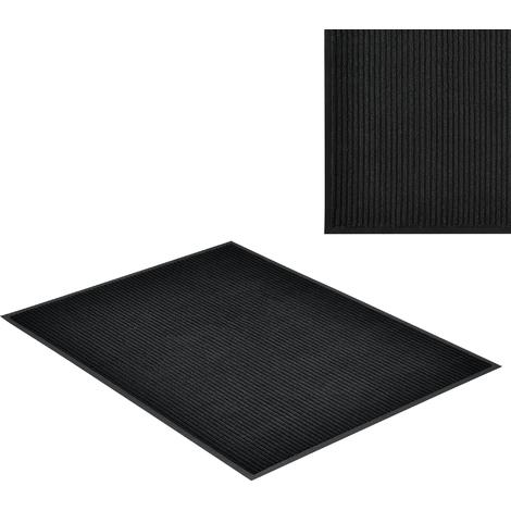 Paillasson tapis d'accueil PVC / Polyester noir 120 x 90 cm
