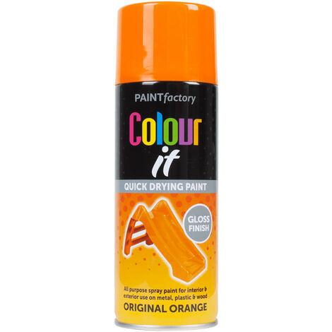 Paint Factory Colour It Original Orange Gloss Finish 400ml