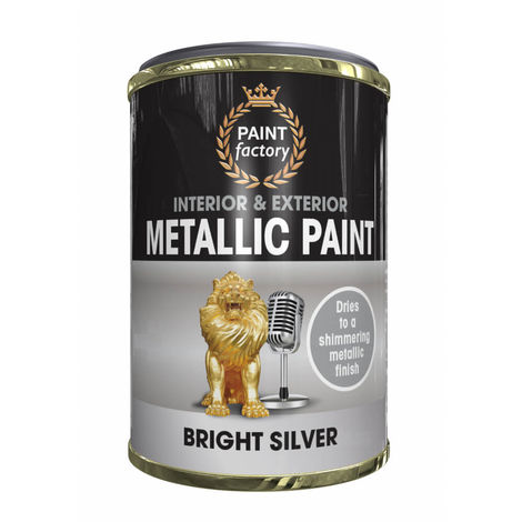 Paint Factory Metallic Paint Bright Silver 300ml
