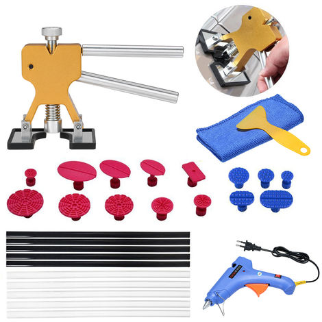 Paint-free dent repair tool 29pcs drawing + glue gun glue stick set