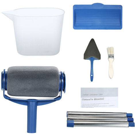 Paint Roller Set with Sticks Decorate Runner Tool Painting Brush Set