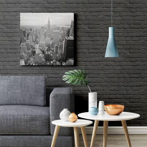 Painted Brick Black Freestyle L22629 Muriva Wallpaper