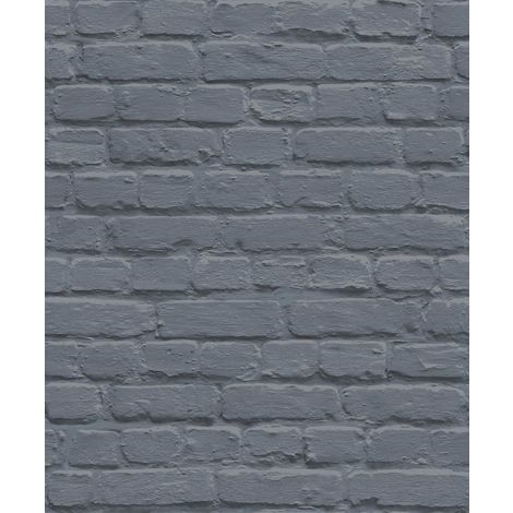 Painted Brick Blue Freestyle L22601 Muriva Wallpaper