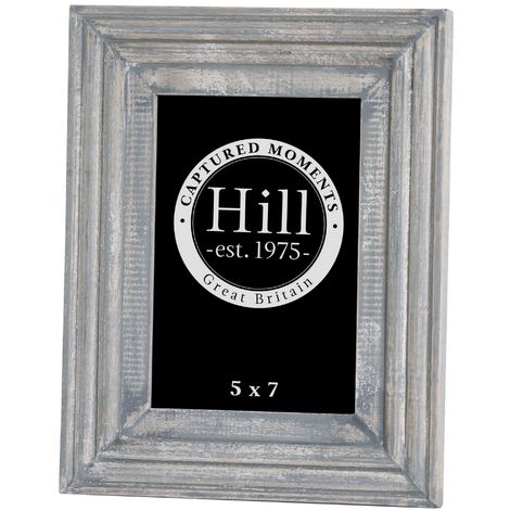 Painted Detailed Photo Frame (One Size) (Grey)