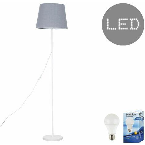 Painted White Floor Lamp Light Shades LED 10W Bulb