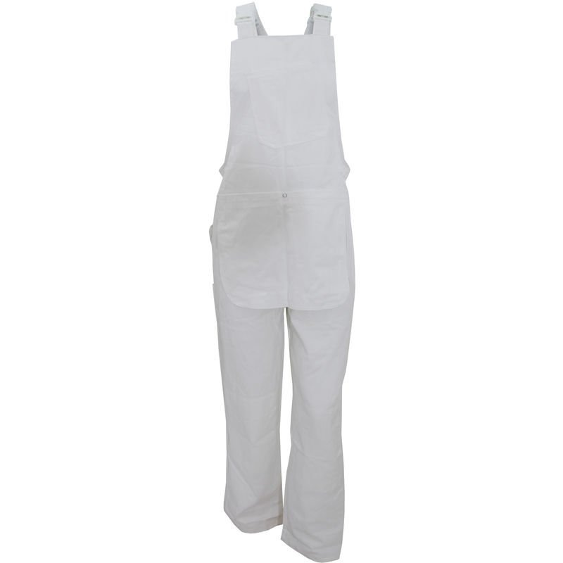 Image of Decorators Bib And Brace / Mens Workwear (M) (White) - Dickies
