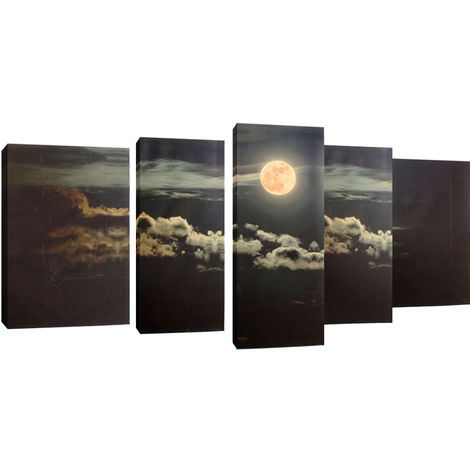 Painting Full Moon Oil Painting Modern Abstract Canvas Art Deco Mural Unframed