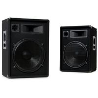 Pair des baffles 3 voie 1600 W PA DJ basse 15 pouces 35 cm Omnitronic DX-1522