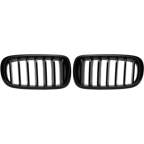 Pair Glossy Black Front Kidney Grilles For BMW X5 F15 X6 F16 2014-2017