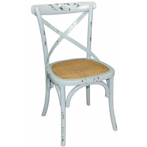Pair Lucy Blue Wooden Chair