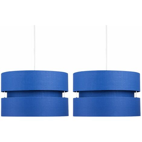 Pair of Blue Layered Easy Fit Light Shades