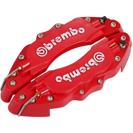 Pair of brake caliper covers red large