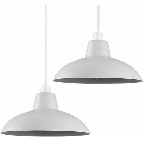 Pair of Civic Metro Ceiling Light Shades - Grey