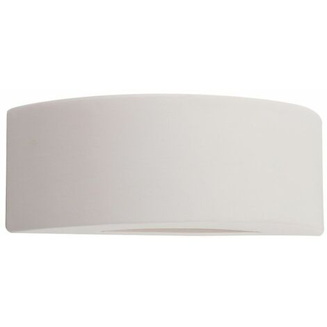 Pair Of Indoor Ceramic Wall Sconce Light Fittings Uplighter Lights - White