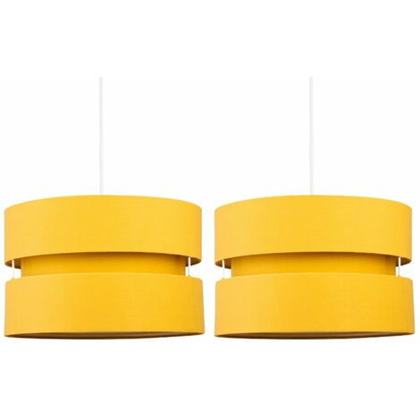 Pair of Ochre Layered Easy Fit Light Shades