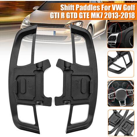 Pair of Steering Wheel Shift Paddles Extension Upgrade Style For VW Golf GTI R GTD MK7 # Black (Black)