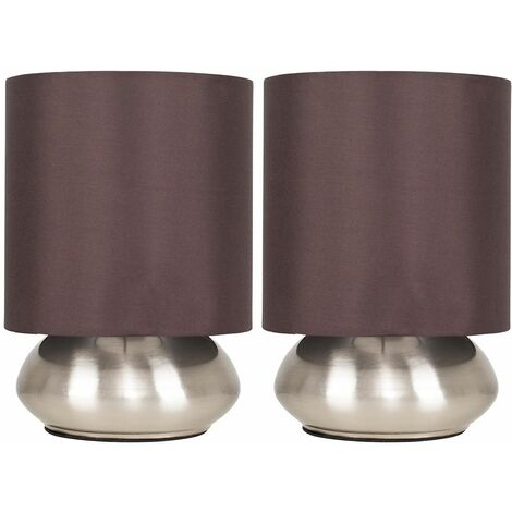 Pair Of Touch Table Lamps + 5W LED Dimmable Candle Bulbs