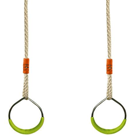 Paire d'anneaux en acier - Accessoire balançoire