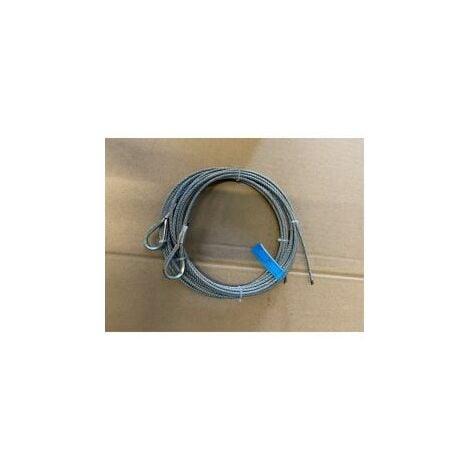 Paire de câble acier assemblé diamètre:4mm, longueur 4 m / 1770N/mm² - 251114.