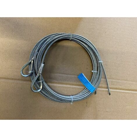 Paire de câble acier assemblé diamètre:4mm, longueur 6 m / 1770N/mm² - 251116.