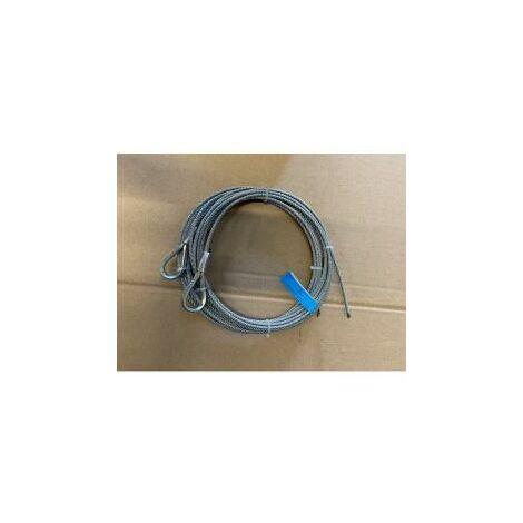 Paire de câble acier assemblé diamètre:5mm, longueur 7 m / 1770N/mm² - 251127.