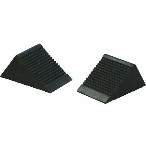 Paire de cales roues caoutchouc VL 105 x 75 x 75mm