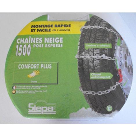 Paire de chaines neige pour pneu 175/65/15 - TOP CHRONO 1500 N6