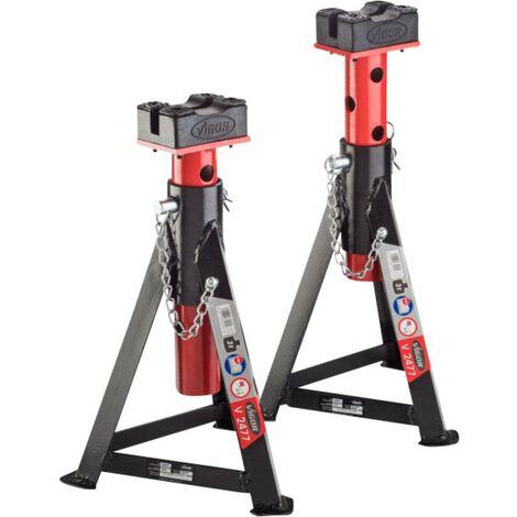 Paire de chandelles de levage Vigor V2477 295 mm 465 mm 3 t