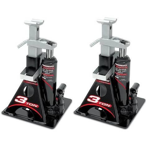 Paire de Chandelles hydrauliques crics bouteille 3T : IDEAL POUR CAMPING-CAR