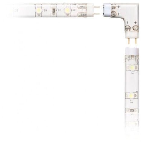 Paire de connecteurs 90° gauche pour système de réglettes LED flex