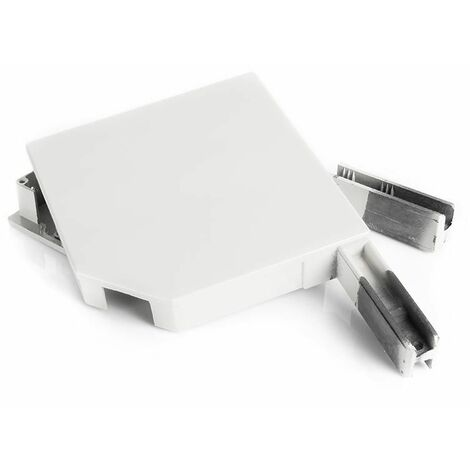 Paire de consoles aluminium pour volet roulant - Pan coupé 45°