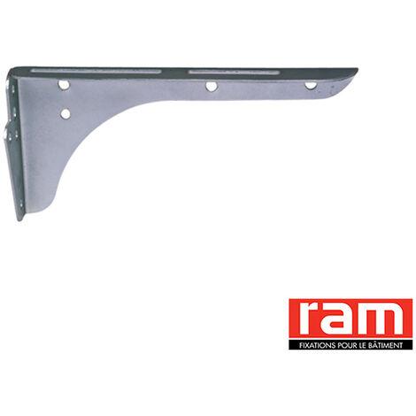 Paire de Consoles pour lavabo - Epoxy blanc / Long. : 320 mm