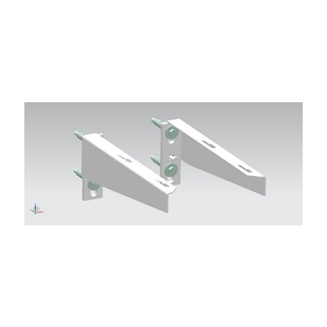 Paire de consoles pour lavabo PMR Aquance