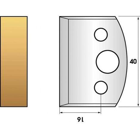 Paire de fers de toupie hauteur 40 n° 00 - Feuillure