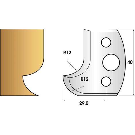 Paire de fers de toupie hauteur 40 n° 05 - Congé et quart de rond | Fers (coupants)