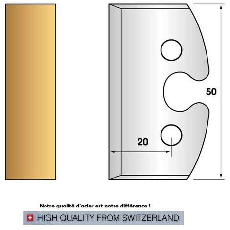 Paire de fers de toupie hauteur 50 mm n° 200 - Feuillurer